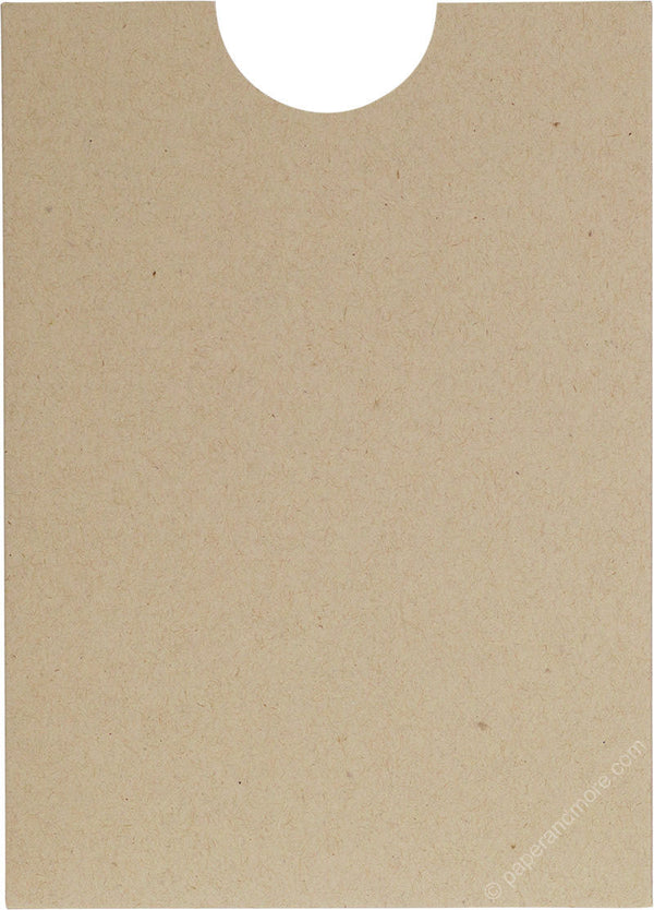 "Taupe Brown Recycled Sleeve, 5"" x 7"" - Paperandmore.com"