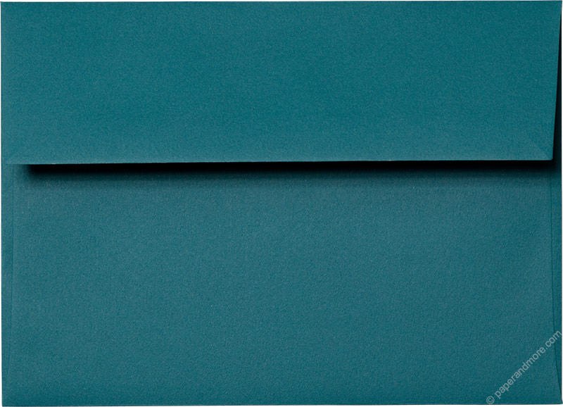 "A-7 Teal Solid Envelopes (5 1/4"" x 7 1/4"") - Paperandmore.com"