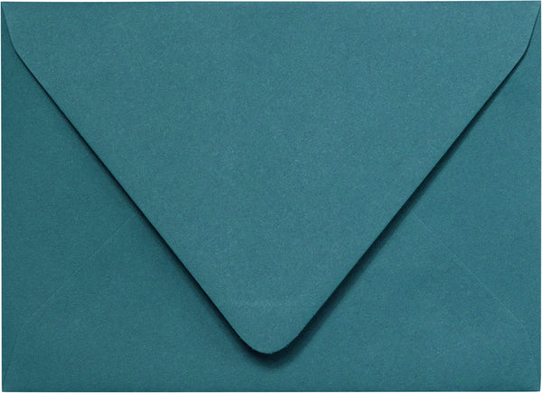 "A-2 Teal Solid Euro Flap Envelopes (4 3/8"" x 5 3/4"") - Paperandmore.com"