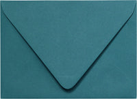 "A-7 Teal Euro Flap Solid Envelopes (5 1/4"" x 7 1/4"")"