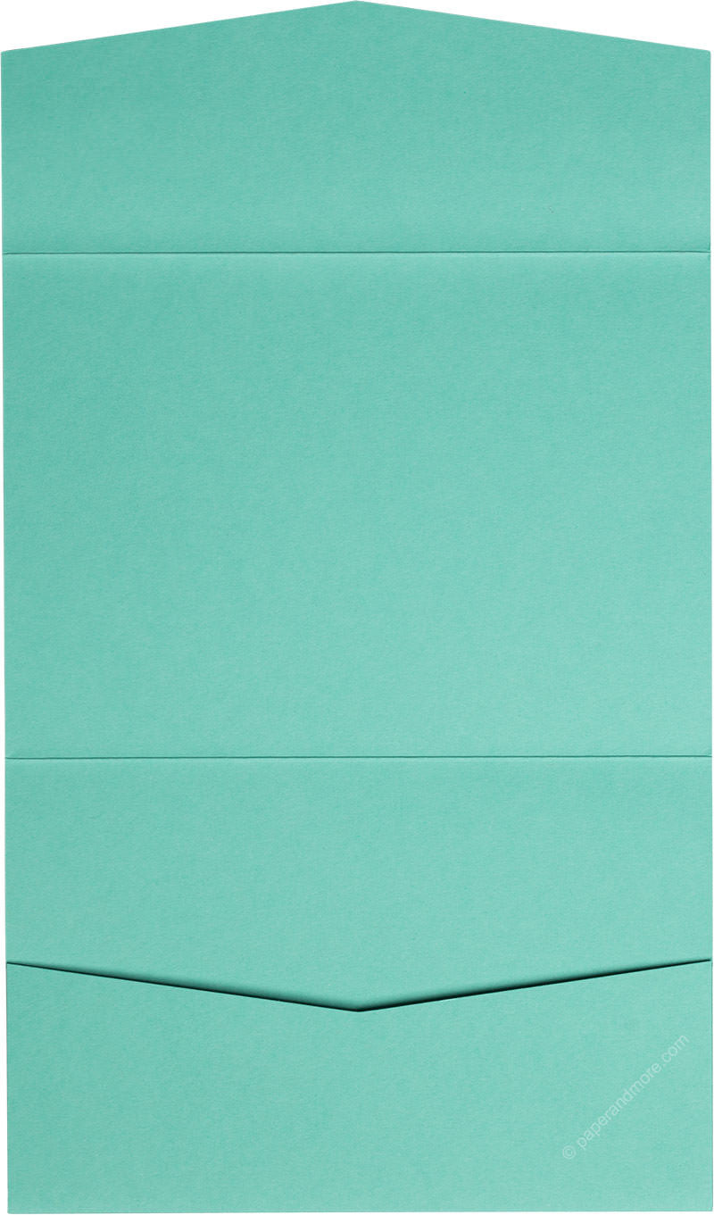 Tiffany Blue Solid Pocket Invitation Card, A7 Atlas