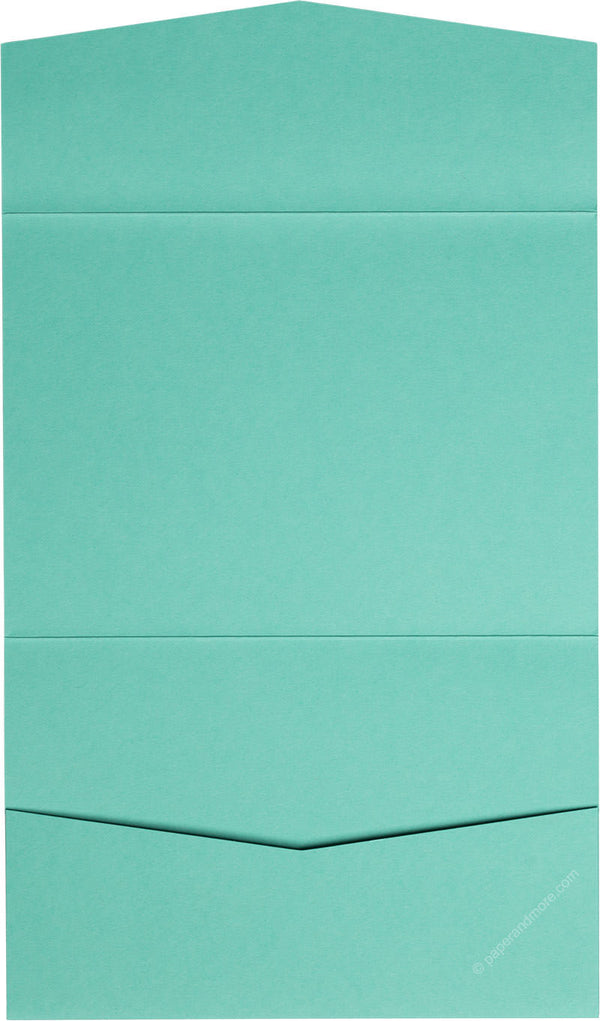 Tiffany Blue Solid Pocket Invitation Card, A7 Atlas - Paperandmore.com