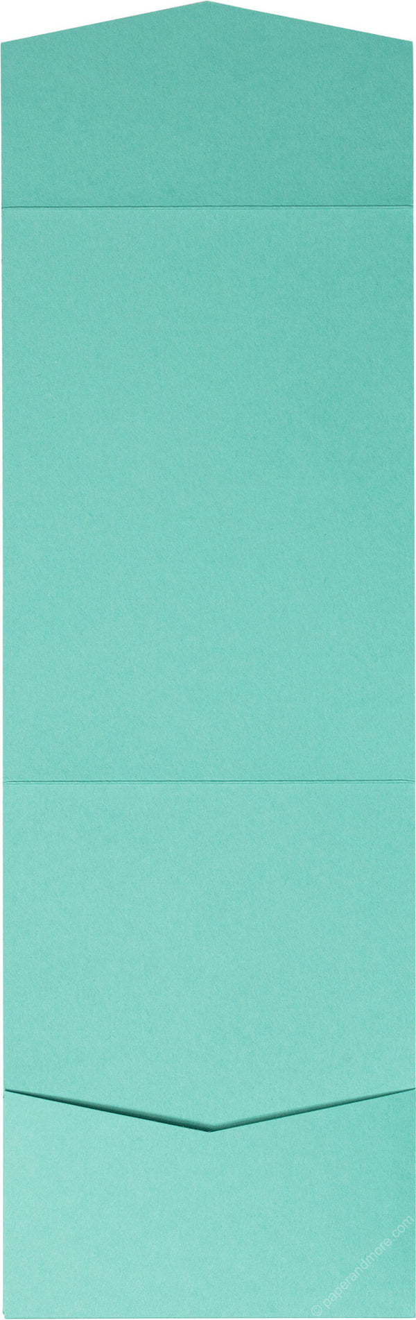 Tiffany Blue Solid Pocket Invitation Card, A7 Cascade - Paperandmore.com