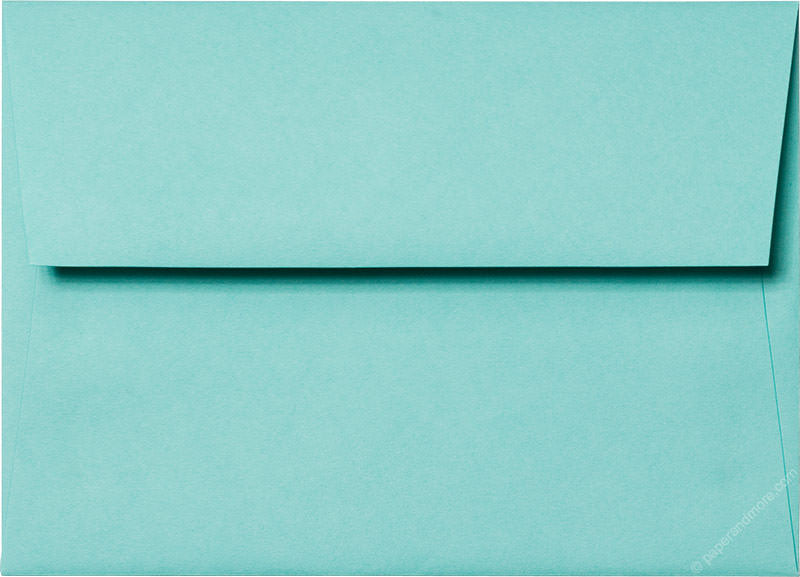 "A-7 Tiffany Blue Solid Envelopes (5 1/4"" x 7 1/4"") - Paperandmore.com"