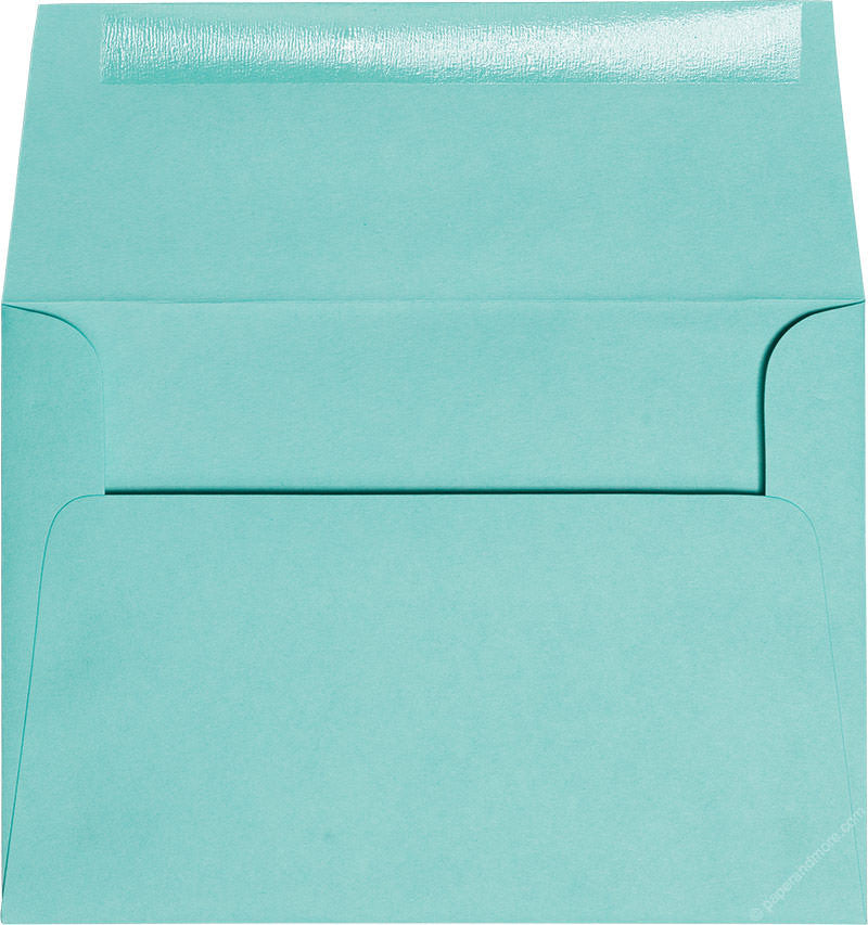 "A-7 Tiffany Blue Solid Envelopes (5 1/4"" x 7 1/4"")"