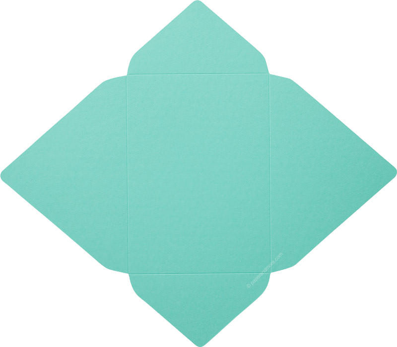 Tiffany Blue Solid - A-7 Euro Flap Card Enclosure