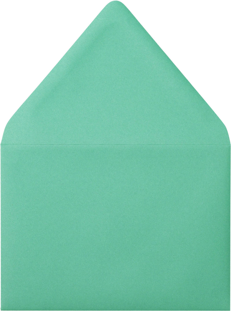 "A-7 Solid Tiffany Blue Euro Flap Envelopes (5 1/4"" x 7 1/4"") - Paperandmore.com"