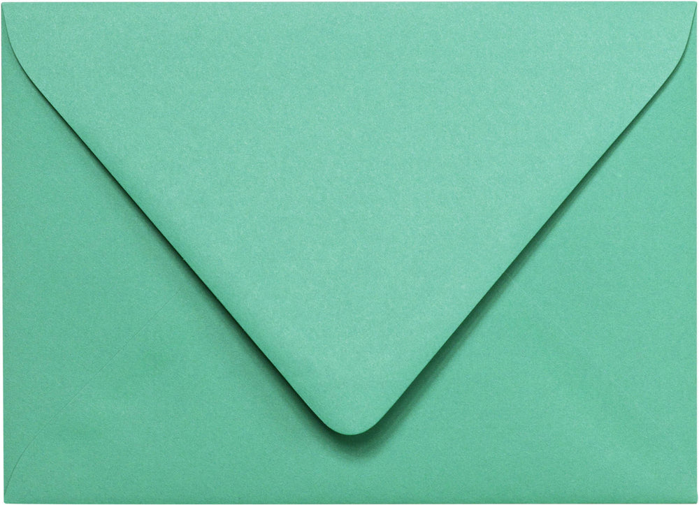"Outer A-7.5 Solid Tiffany Blue Euro Flap Envelopes (5 1/2"" x 7 1/2"")"