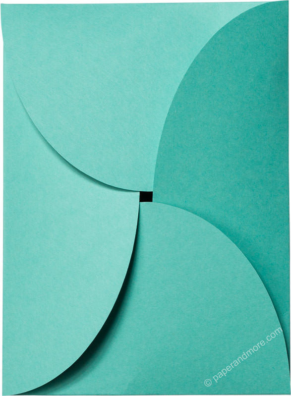 "Tiffany Blue Solid Petal Card 100#, 5 1/8"" x 7"" - Paperandmore.com"