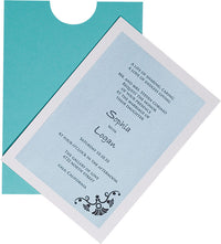 "Tiffany Blue Solid Sleeve, 5"" x 7"""