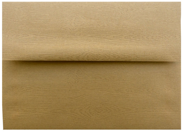 A-1 (RSVP) Tindalo Brown Embossed Wood Grain Envelopes (3 5/8