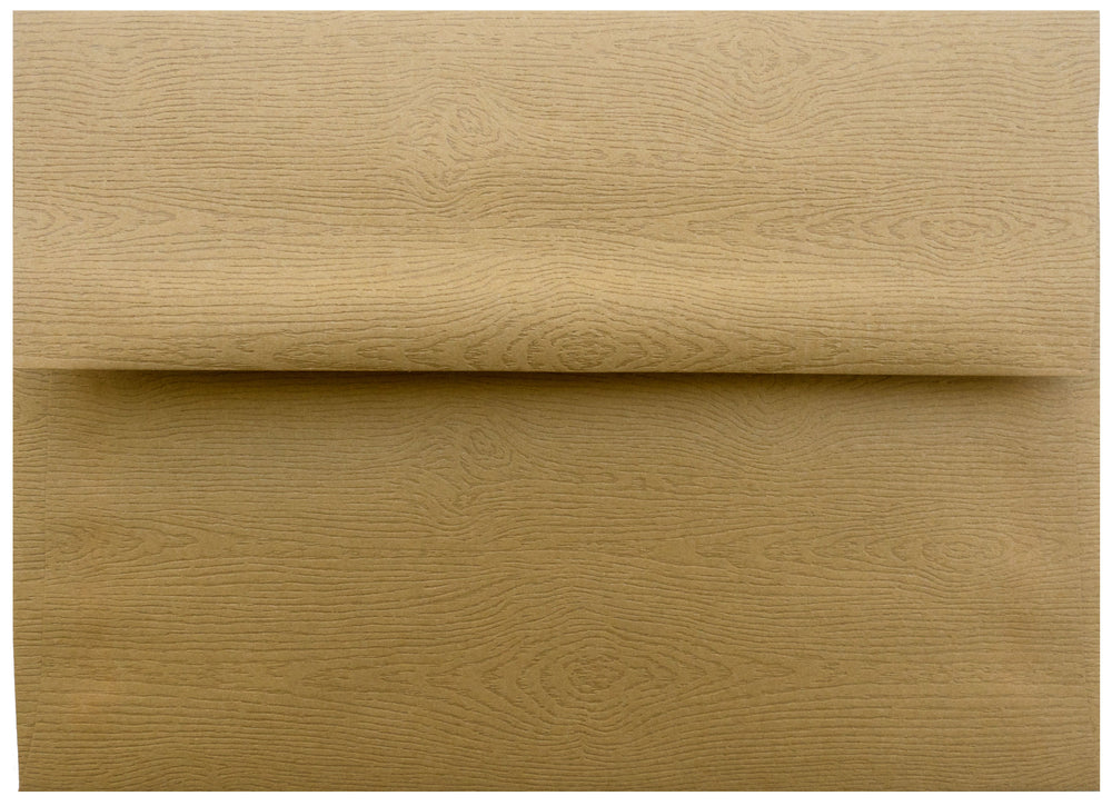 "A-9 Tindalo Brown Embossed Wood Grain Envelopes (5 3/4"" x 8 3/4"")"