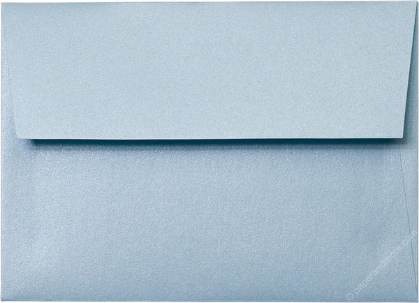 "A-7 Topaz Blue Metallic Envelopes (5 1/4"" x 7 1/4"") - Paperandmore.com"