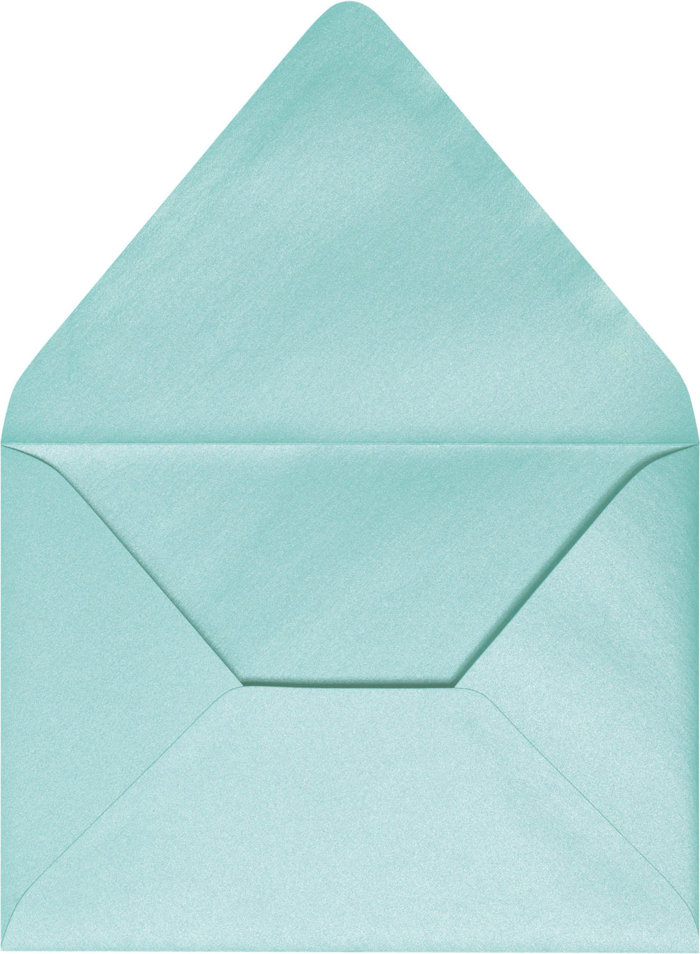 "A-1 (4 Bar) Topaz Blue Metallic Euro Flap Envelopes (3 5/8"" x 5 1/8"")"