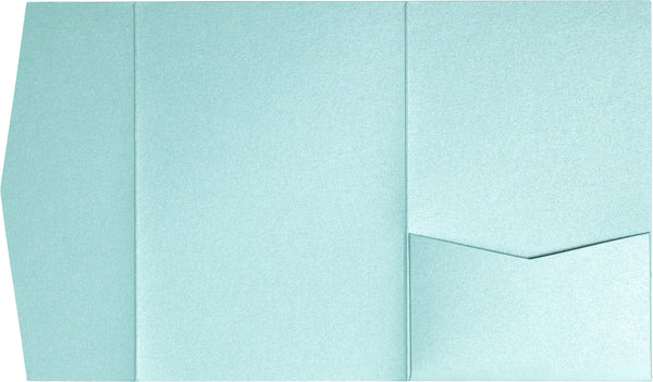 A-7.5 Himalaya Topaz Blue Metallic Pocket Folder