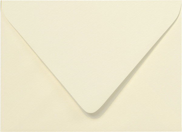 A-1 (RSVP) Warm White Felt Euro Flap Envelopes (3 5/8
