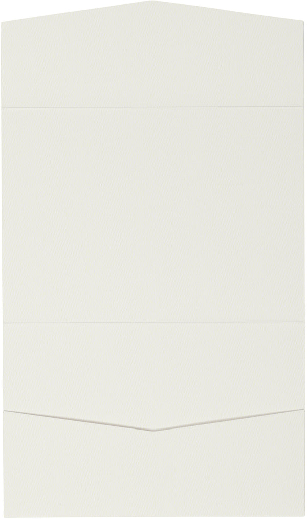 A7 Atlas Warm White Felt Pocket Folder