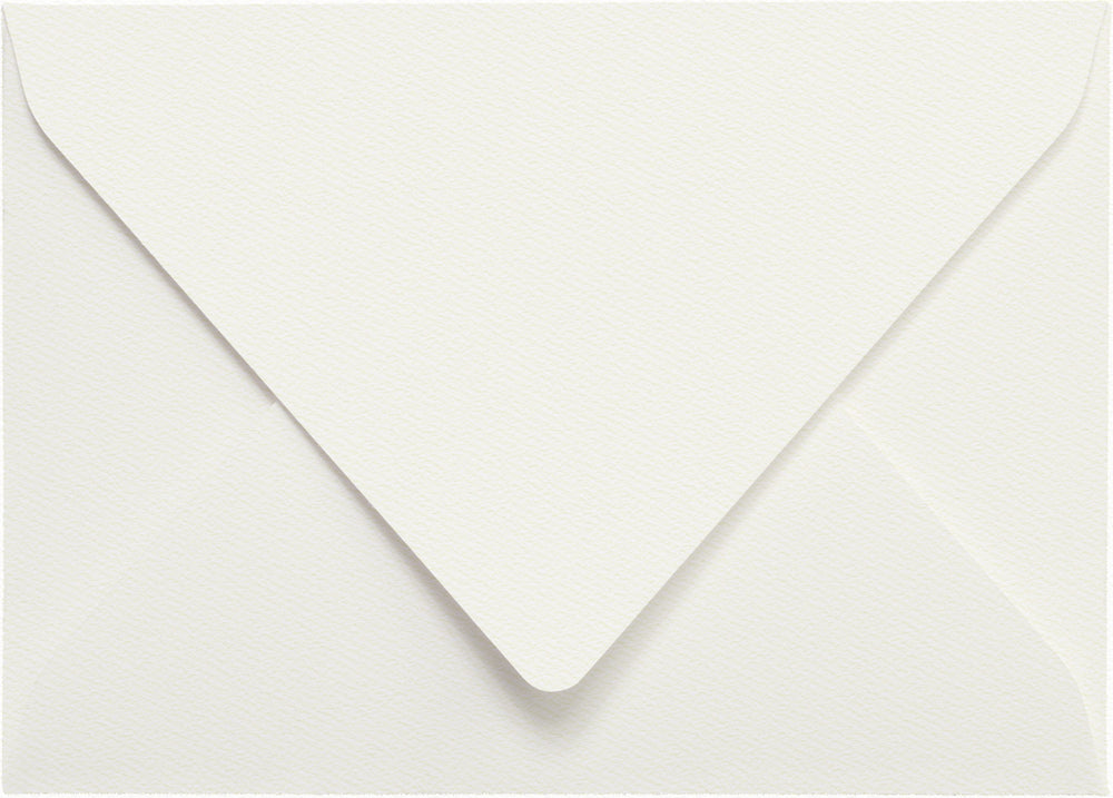 Warm White Felt - A-7 Euro Flap Card Enclosure
