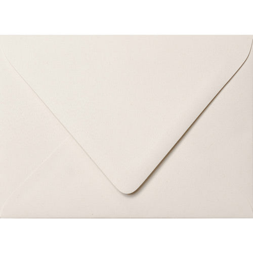 "A-7 White Fiber Recycled Euro Flap Envelopes (5 1/4"" x 7 1/4"") - Paperandmore.com"