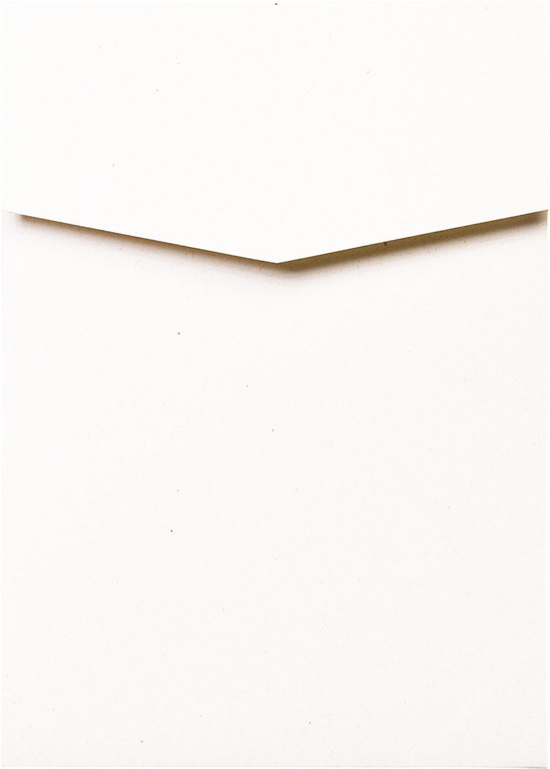White Fiber Recycled Pocket Invitation Card, A7 Cascade - Paperandmore.com