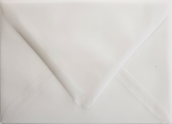 "A-7 White Translucent Vellum Euro Flap Envelopes (5 1/4"" x 7 1/4"") - Paperandmore.com"