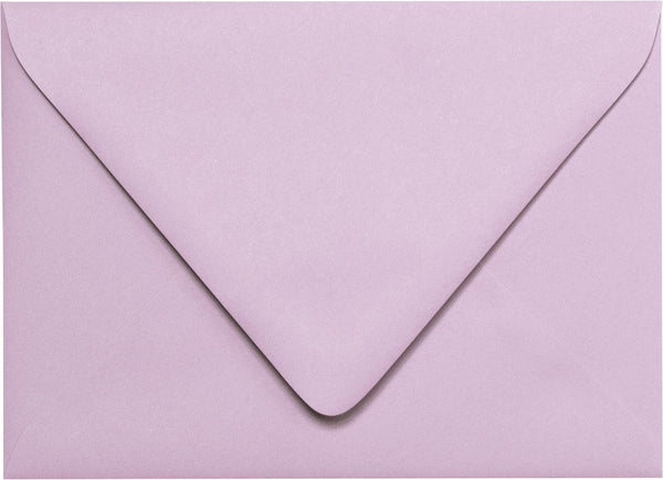 "A-7 Wisteria Purple Solid Euro Flap Envelopes (5 1/4"" x 7 1/4"") - Paperandmore.com"