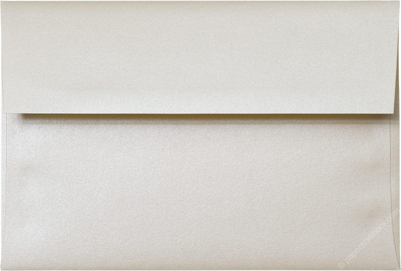 "A-8 Champagne Cream Metallic Envelopes (5 1/2"" x 8 1/8"")"