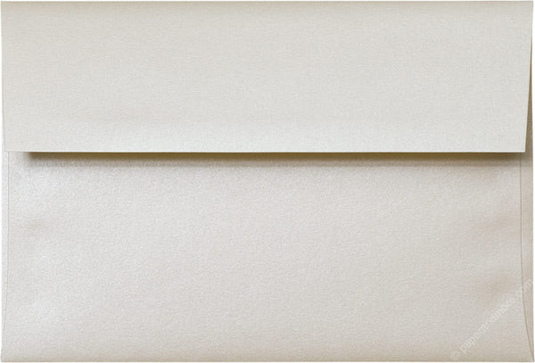 "A-8 Champagne Cream Metallic Envelopes (5 1/2"" x 8 1/8"") - Paperandmore.com"