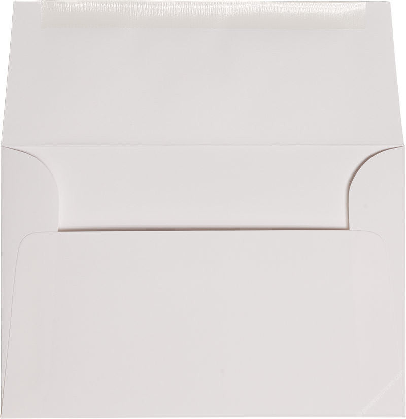 "A-8 Classic White Solid Envelopes (5 1/2"" x 8 1/8"") - Paperandmore.com"