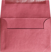 "A-8 Crimson Red Metallic Envelopes (5 1/2"" x 8 1/8"") - Paperandmore.com"