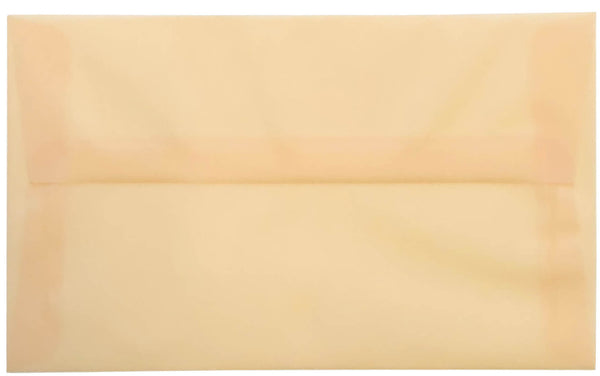 A-10 Peach Cream Translucent Vellum Envelopes (6