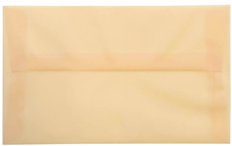 "A-8 Peach Cream Translucent Vellum Envelopes (5 1/2"" x 8 1/8"") - Paperandmore.com"