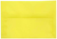 "A-8 Primary Yellow Translucent Vellum Envelopes (5 1/2"" x 8 1/8"")"