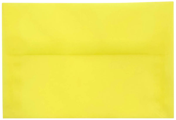 A-8 Primary Yellow Translucent Vellum Envelopes (5 1/2