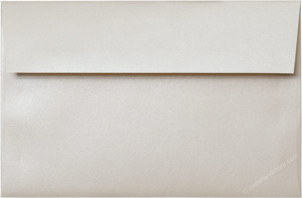 "A-9 Champagne Cream Metallic Envelopes (5 3/4"" x 8 3/4"") - Paperandmore.com"