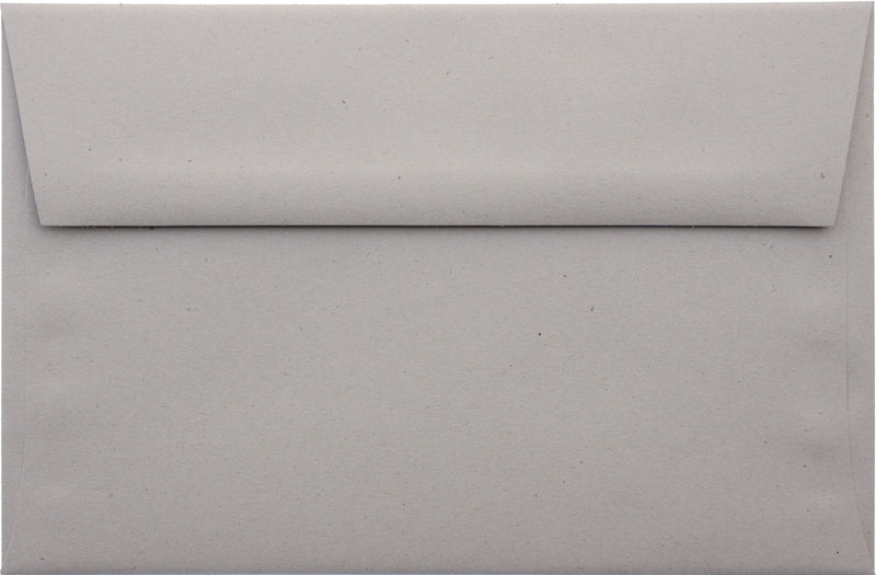 "A-9 Concrete Gray Kraft Raw Recycled Envelopes (5 3/4"" x 8 3/4"") - Paperandmore.com"