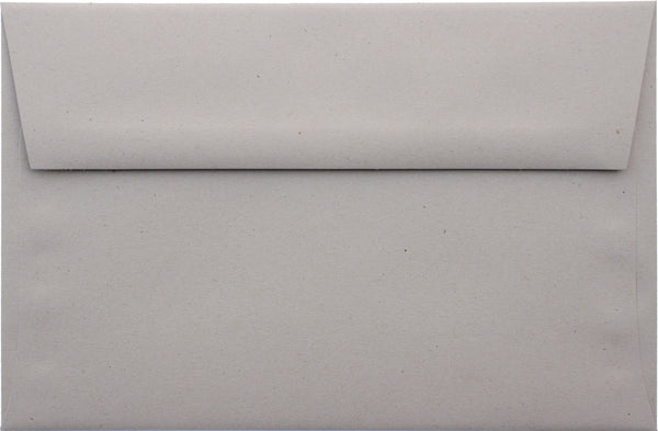 A-7 Concrete Gray Kraft Raw Recycled Envelopes (5 1/4