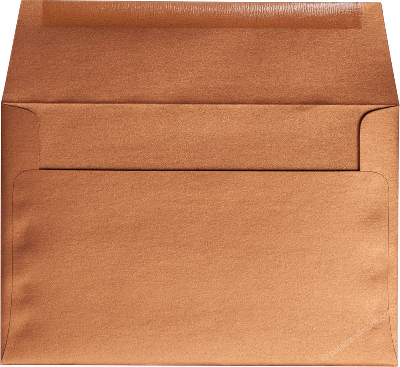 "A-9 Copper Metallic Envelopes (5 3/4"" x 8 3/4"") - Paperandmore.com"
