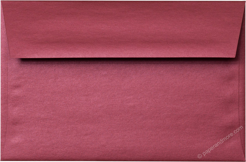 "A-9 Crimson Red Metallic Envelopes (5 3/4"" x 8 3/4"") - Paperandmore.com"