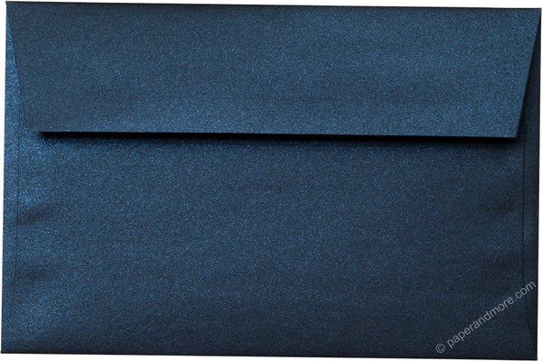 "A-9 Dark Blue Metallic Envelopes (5 3/4"" x 8 3/4"") - Paperandmore.com"