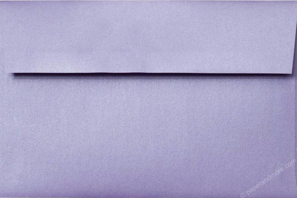 "A-9 Lavender Metallic Envelopes (5 3/4"" x 8 3/4"") - Paperandmore.com"