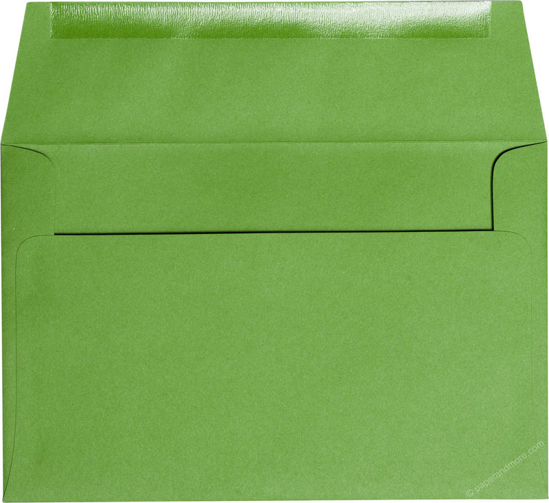 "A-9 Meadow Green Solid Envelopes (5 3/4"" x 8 3/4"") - Paperandmore.com"