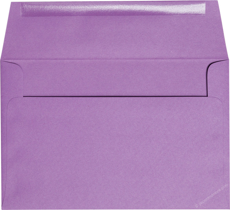 "A-9 Purple Grape Solid Envelopes (5 3/4"" x 8 3/4"") - Paperandmore.com"