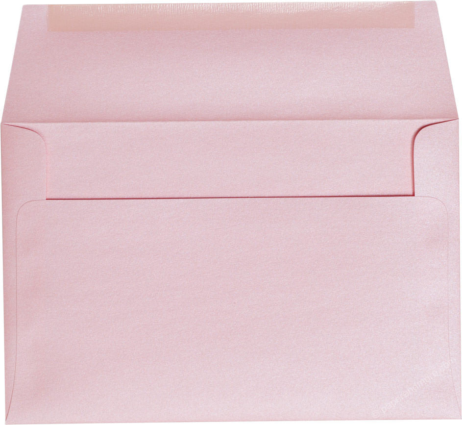 "A-9 Rose Pink Metallic Envelopes (5 3/4"" x 8 3/4"")"