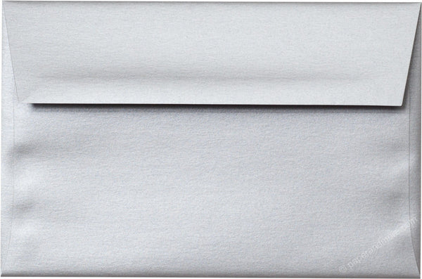 "A-10 Silver Metallic Envelopes (6"" x 9 1/2"") - Paperandmore.com"