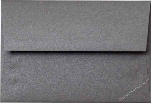 "A-10 Steel Gray Metallic Envelopes (6"" x 9 1/2"") - Paperandmore.com"