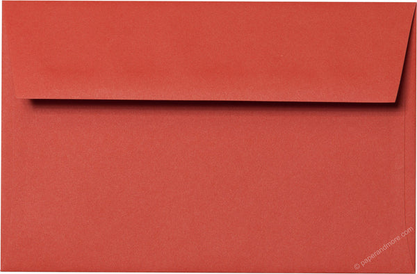 A-9 Sunset Orange Solid Envelopes (5 3/4