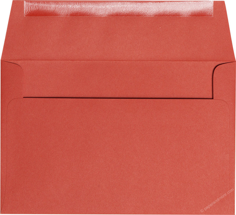 "A-9 Sunset Orange Solid Envelopes (5 3/4"" x 8 3/4"") - Paperandmore.com"