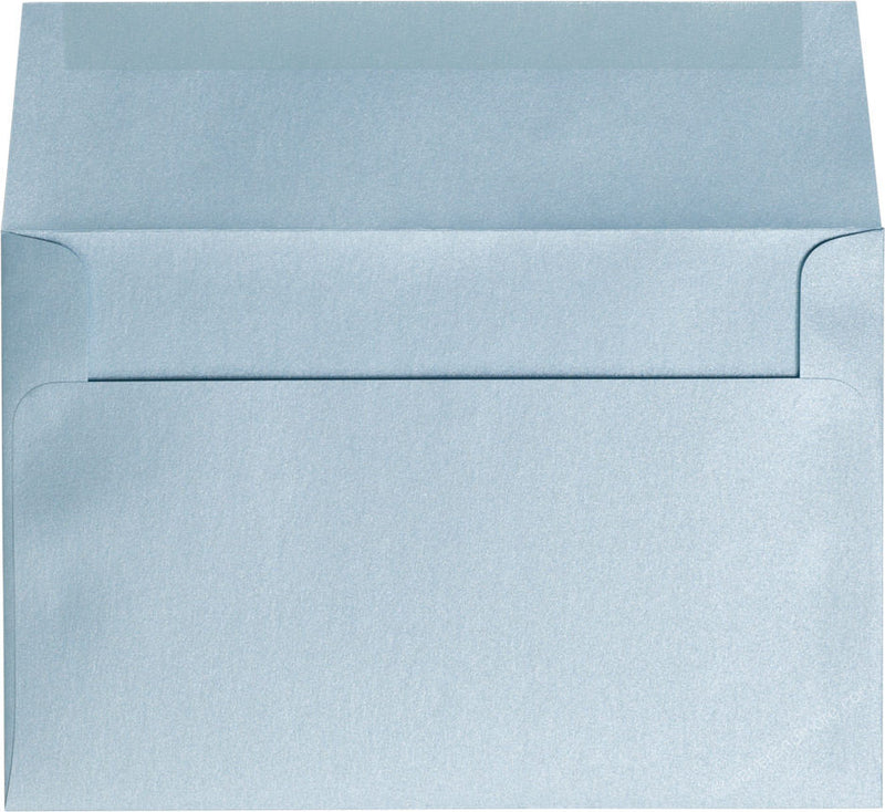 "A-9 Topaz Blue Metallic Envelopes (5 3/4"" x 8 3/4"") - Paperandmore.com"