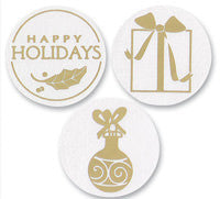 Gold Assorted Holiday Seals